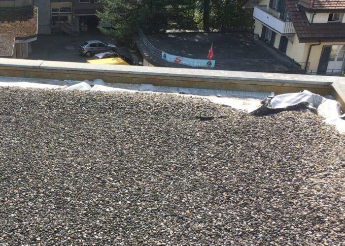 Abspannungen der Dachhaut